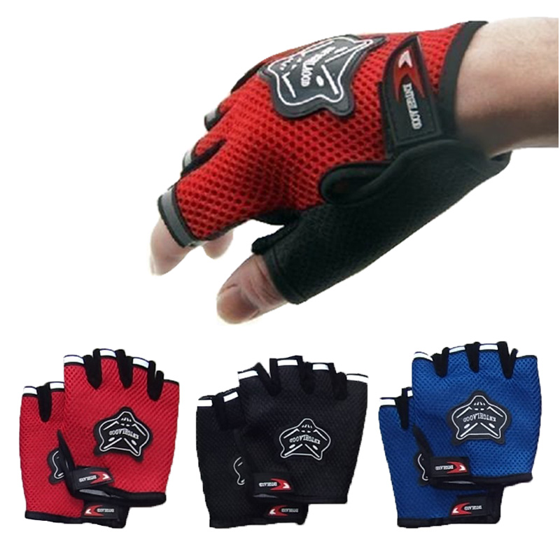 Gants de sport demi-doigt pour hommes Femmes Gym Fitness Training Exercise Body Building Workout Haltérophilie Mitaines - Fingerless
