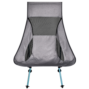 Portable Gray Moon Chair Fishing Camping Chairs Folding Extended Hiking Seat Light Outdoor Chair Home Furniture