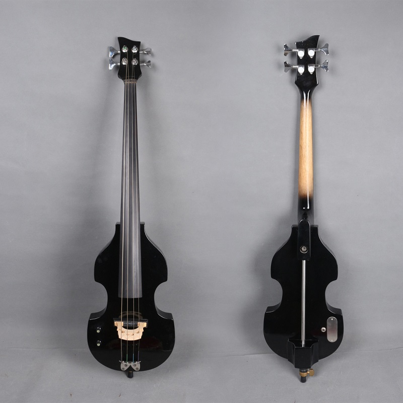 4/4 Electric Cello Tiger Flame Maple Bass Guitar Professional Sound With Bag Bow