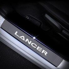 4pcs Door Sill Plate Car Accessories Carbon Fiber Scuff Sticker for Mitsubishi LANCER