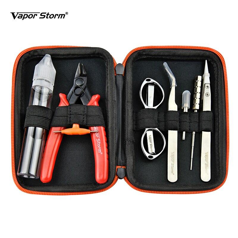 Trousse à outils vapeur tempête sac V1 E-cigarette outil de nettoyage à base de plantes E-cigarette Kit t-vis petite brosse en acier pince Vape