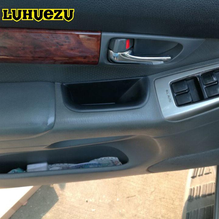 Prix pour 4 PCS ABS Voiture Porte Intérieure Rangement Boîte De Stockage De Support Pour Toyota Land Cruiser Prado FJ120 Accessoires 2003-2009