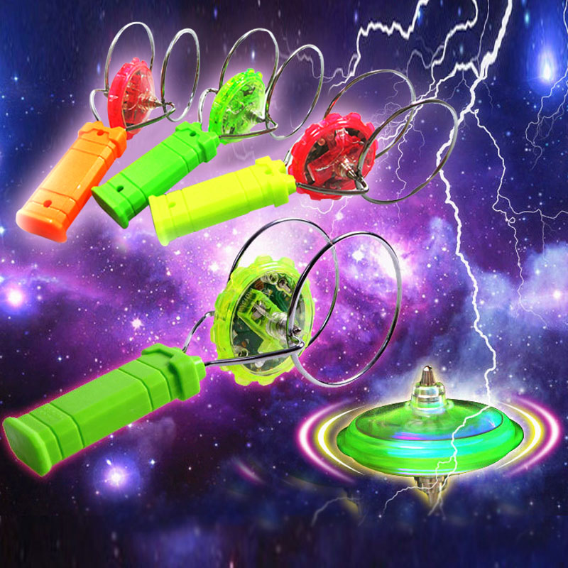 New Magical Gyroscopic Colorful Magic Fly Magnetic Spinning Tops Flash YO-YO Children Toys Random Color @Z148