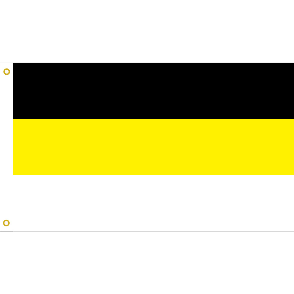 US $2 69 10% OFF Russian Imperial Empire Flags and Banners 90x150cm Eagle  Heads God Black Yellow White Banner 3X5Ft with Brass Grommets-in Flags,
