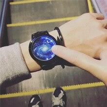 Модные креативные кварцевые часы личность минималистский кожа нормальная светодиодные часы Для мужчин Для женщин унисекс Наручные часы пару часов lz2209