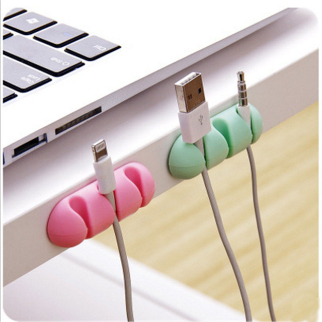 2Pcs Self adhesive Cable Clips Ties Holder Organizer Desk Wire ...