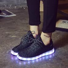 Мода 2017 г. Женщины светодиод светящиеся туфли Высокая Повседневная USB Обувь зарядки Tenis со светодиодной подсветкой Обувь взрослых светящийся Обувь