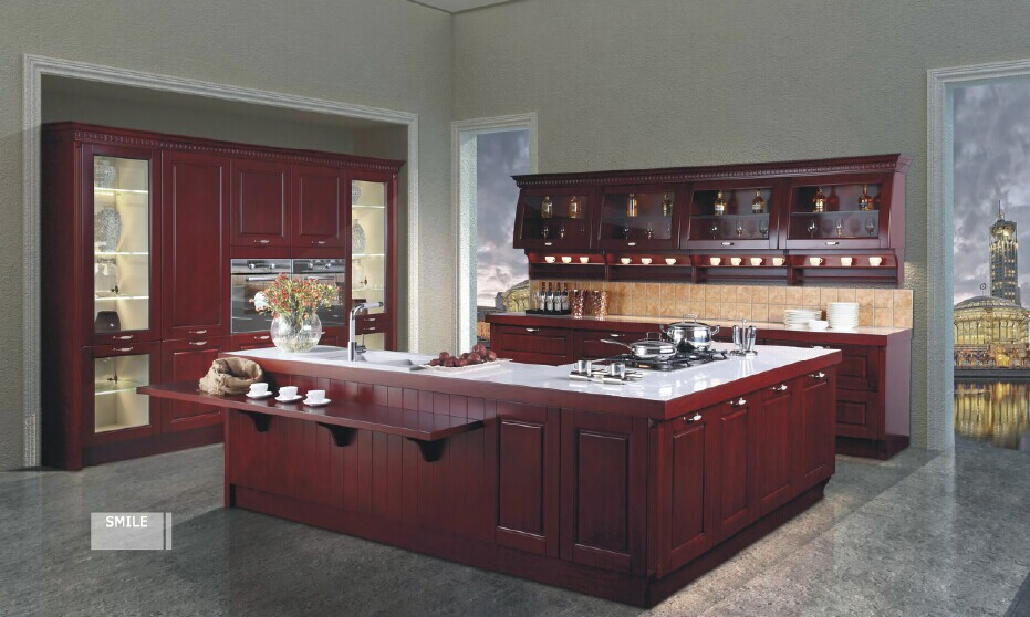 US $2900.0 |Antique kitchen cabinet solid wood,modular kitchen cabinets-in  Kitchen Cabinets from Home Improvement on AliExpress