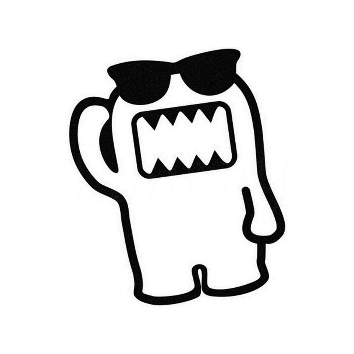 Cute Monster With Glasses Car Sticker Wall Home Glass