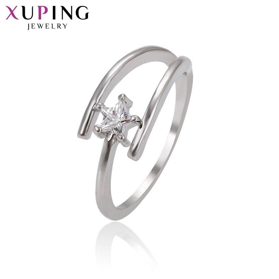 11,11 сделок Xuping Мода Элегантный Регулируемая кольцо с синтетическим CZ украшения для Для женщин Рождество подарок S77-14669