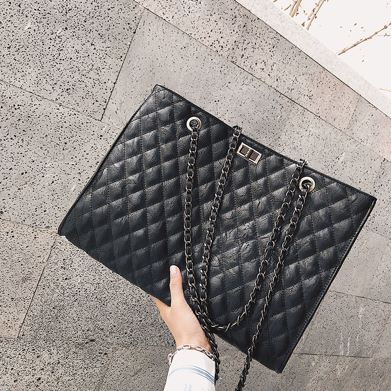 Luxury Handbags Women Bags Designer 2018 Brand Simple Messenger Bag Leather Large Chain Crossbody Bags For Women bolsa feminina