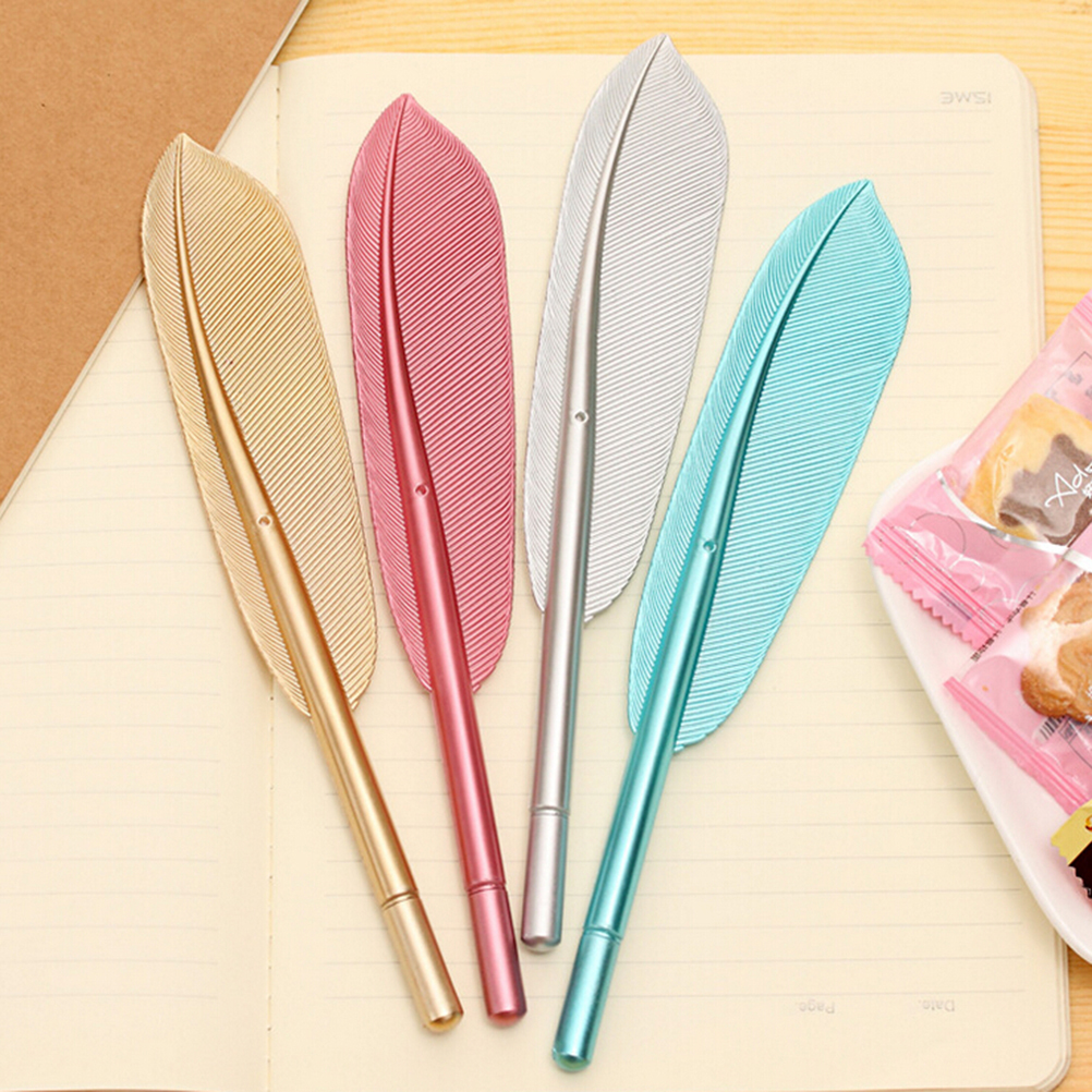 online buy whole cheap writing from cheap writing 5pcs beautiful feather pens ballpoint pen writing for school supplies stationery cheap items cute kawaii pen