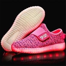 KEYITODO Children Shoes Light Boys Girls Casual LED