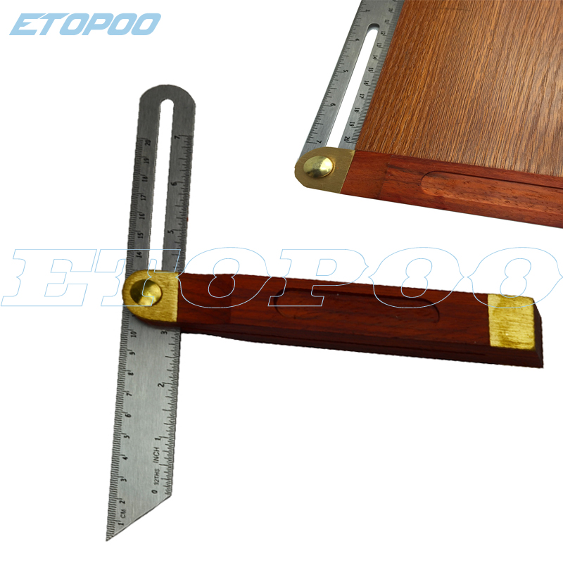 Angle Rulers Gauges Tri Square Sliding T-Bevel With Wooden Handle Level Measuring Tool wooden marking gauge marking tools