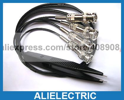 цены 1 Set SMD Test Clip Probe for LCR Meter with 4 BNC Wire