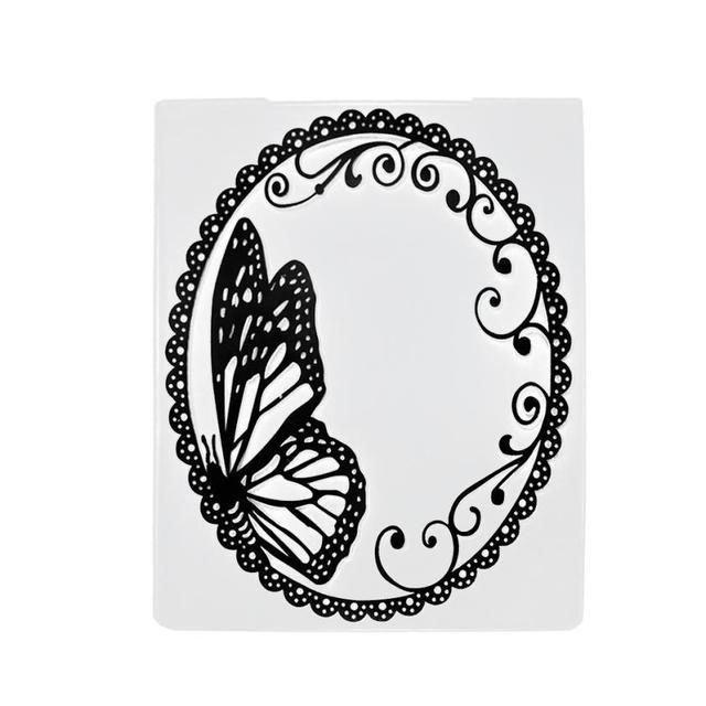 Casa LC Corte Morre Stencils Plástico DIY Álbum Scrapbooking Cartões de Papel Ofício Corte muere Matrizes de coupe 18MAY30 DropShip
