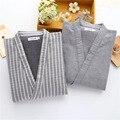 Winter Spring Men Sleep Tops Thick Long Sleeve Japanese Style Warm Fashion Male Sleep Tops