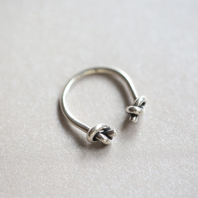 Flyleaf 2016 New Original Knot 925 Sterling Silver Open Rings For Women Personal