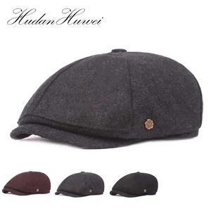 1f9cb3b9ab2 HUDANHUWEI Autumn Winter Newsboy Hats Man Octagonal Cap
