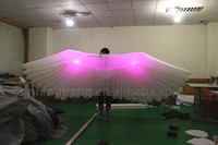 Free shipping length 4m adult club performance inflatable angel wing costume