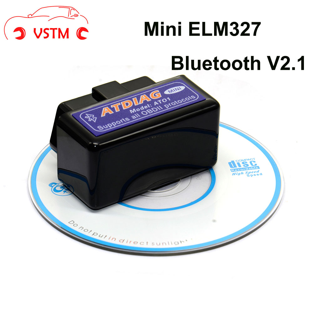 VSTM Latest Version Super Mini ELM327 Bluetooth V2.1 OBD2 Mini Elm 327 Car Diagnostic Scanner Tool For ODB2 OBDII Protocols