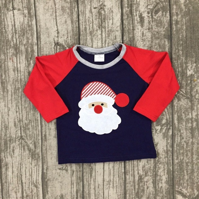 new christmas fallwinter baby boys children clothes boutique cotton top t shirts raglans