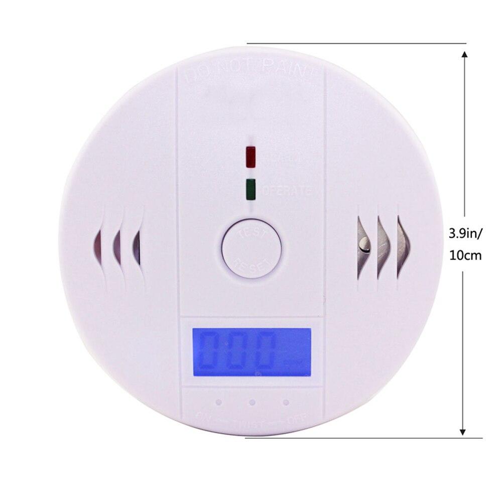 Утечки газа Предупреждение сигнализации Высокочувствительный ЖК дисплей детектор CO угарного газа дым сенсор белый