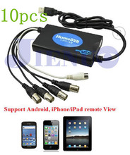 2014 special offer yes 10pcs/lot cctv 4ch real time audio video capture usb dvr box security system support 32/64bit os