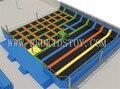 2015 новые гимнастический фитнес батут супер качество в помещении коммерческая батут HZ-LG040