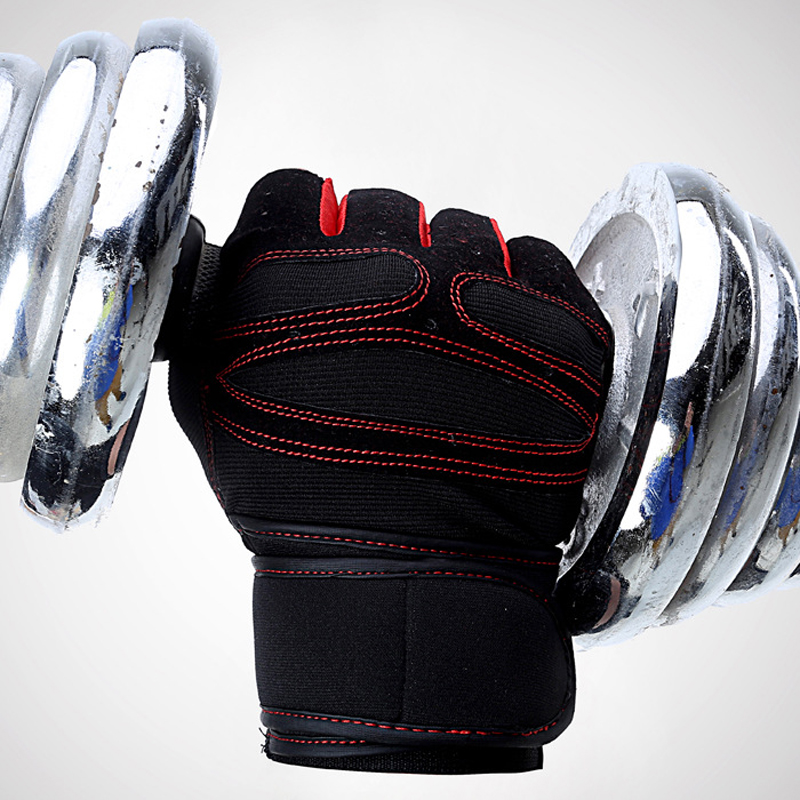 Brand Sports Gloves Fitness Exercise Training Gloves Fingerless Crossfit Unisex Guantes Luva Weightlifting Antiskid Gloves Hot