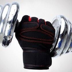 Marca Luvas de Esportes da Aptidão Crossfit Treinamento Exercício Luvas Sem Dedos Unisex Luvas Luva Luvas de Musculação Antiderrapante Quente