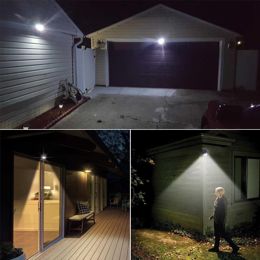 Светодиодные фонари на солнечной светодио дный энергии PIR датчик движения настенный светильник Открытый водостойкий уличный двор домашний сад охранная лампа авто вкл/выкл