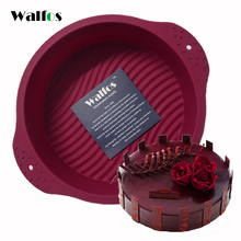 WALFOS 20*6.5 CM  Big Round food grade non stick Silicone Cake pan 3D cake Mold Baking Tools Bakeware Maker Mold Tray