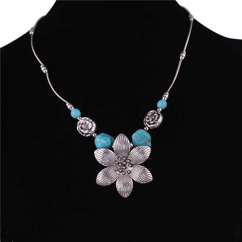 The Sun FLOWER Green Solid Combine Gold Necklace Restore Ancient Ways Heat Pin Ornaments Christmas Party Gift