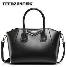 teemzone – HOT Quality Assured Fashion Black Versatile Hobos Genuine Leather Brand Handbags & Crossbody bags Vrouwen Handtas J25