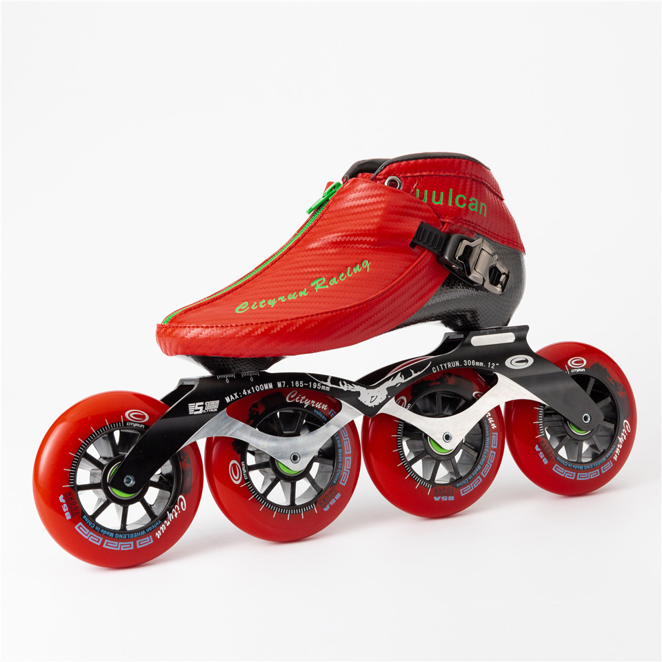 Image 4 - Japy 2019 Cityrun Speed Inline Skates Carbon Fiber Professional Competition Zip boots Racing Skating Patines Similar PowerslideSkate Shoes   -