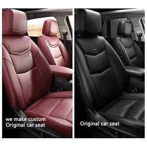 Image 2 - Kokololee niestandardowe skórzane pokrycie siedzenia samochodu dla Volkswagen Passat Beetle Tuareg Tiguan Phaeton VW R36 Eos MAGOTAN Scirocco siedzenia samochodowe