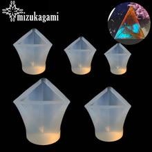 1 ADET UV Reçine Takı silikon kalıp Üçgen Piramit Reçine Kalıpları DIY Takı Yapımı Için Bulma Kalıpları Aksesuarları