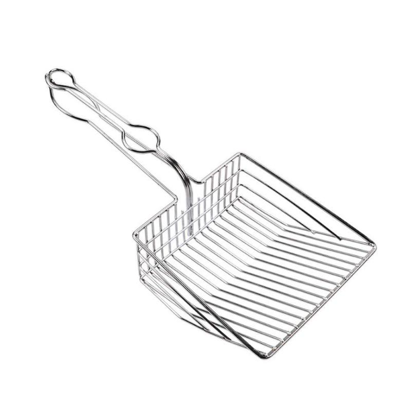 Cat Litter Shovel Scoop Stainless Steel Pet Toilet Cleaning Tool For Cat Portable Durable Large Size Cat Litter Sifter Scoop