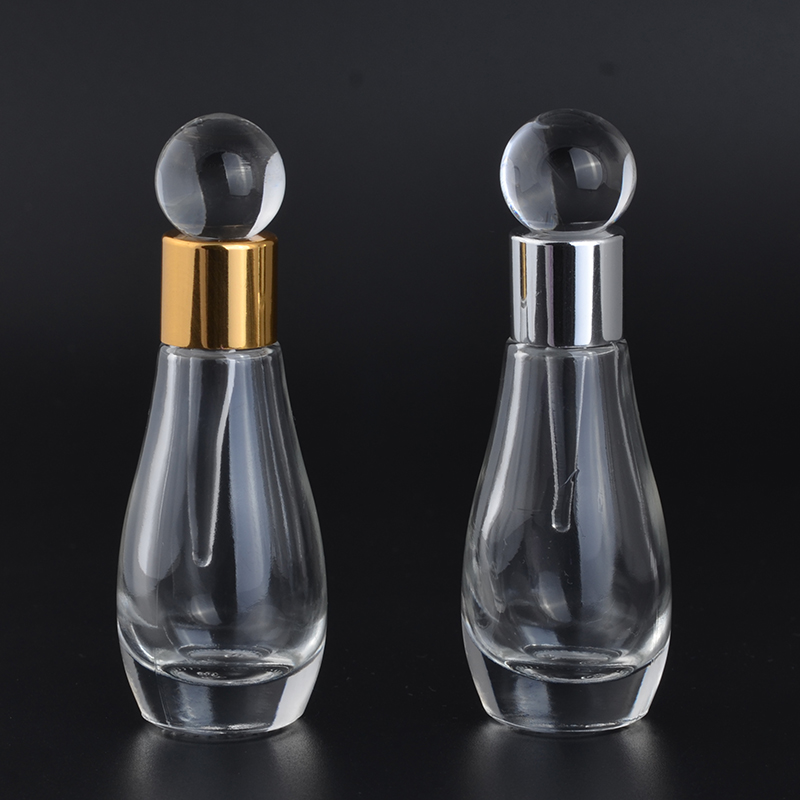 MUB - 12ml Women Perfume Bottle Antiqued Style Glass Empty Perfumes Container Wedding Decoration  Portable Dropper Bottles