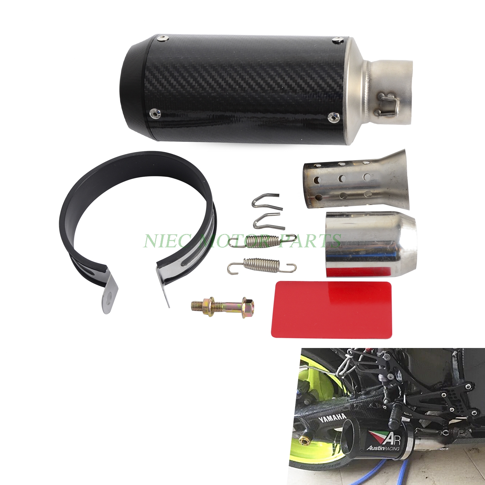 High performance motorcycle carbon fiber slip-on exhaust muffler For Scooter Motorcycle ATV Dirt Bike Quad leonard  yates high performance options
