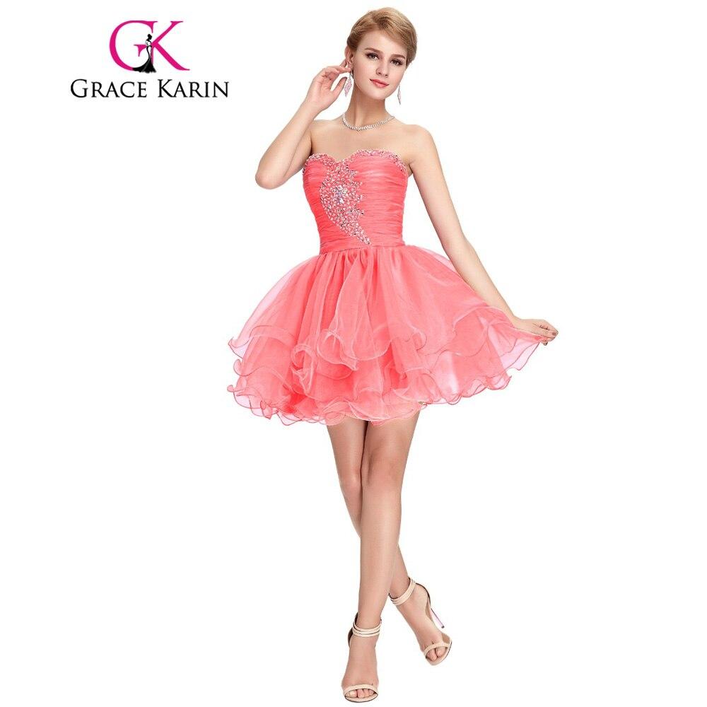 Corto vestido de fiesta Grace Karin negro rosa púrpura con cuentas ...