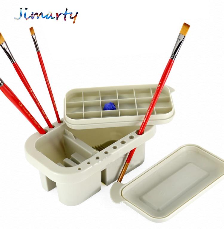 1pc Brush Washing Bucket Multifunction Pen Barrel Brush Washer Art Supply Oil Acrylic Watercolor Tool Art  Palette Brush Holder