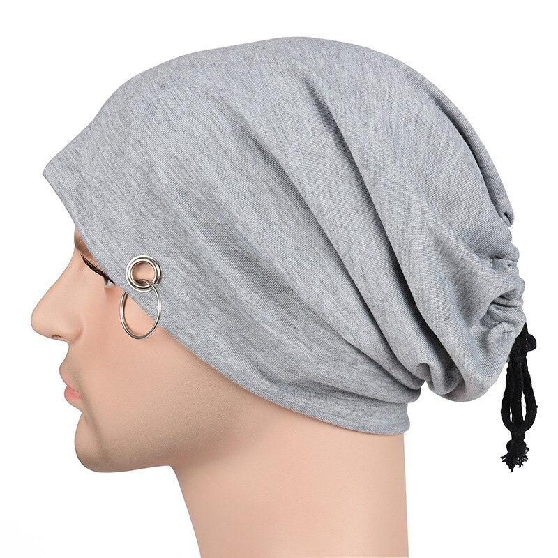 Frauen Männer Einfarbig Kappe Haufen Haufen Kappen Hut Beanie Für Männer 2018 Mode Stretch Turban Hut Hip-hop Schal Haufen Hüte 8c1255