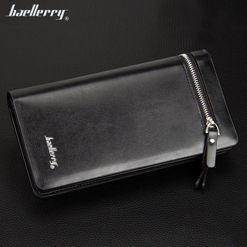 New Design Men Long Wallets Snap Button Large Capacity 2 Zippers Open Mobile Phone Bit Multi Credit Cards Holders Purse Wallet 5pcs lot high quality 2 pin snap in on off position snap boat button switch 12v 110v 250v t1405 p0 5