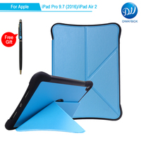 DWAYBOX Smart Cover For Apple IPad Pro 9 7 Shockproof Deformed Origami Standing Magnetic Folio PU