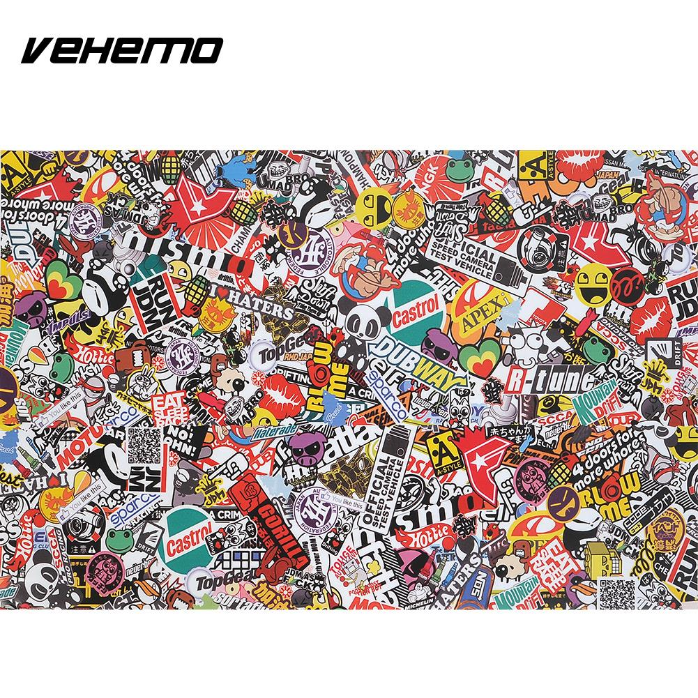 Vehemo 30x20 PVC Sticker Bomb Graffiti Scrawl Wrap Sheet Decal For Car Motor Waterproof Decor Drop Shipping наматрасники candide наматрасник водонепроницаемый waterproof fitted sheet 60x120 см