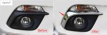 Accessori Per Mazda 3 AXELA Berlina Hatchback 2014 2015 2016 Anteriore Lampada della Luce di nebbia Palpebra Sopracciglio Kit di Stampaggio Copertura Trim 2 Pz