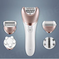 1pc 5 in 1 Electric Women Epilator Lady Shaver Razor Callus Remover Facial Cleansing Brush Female Bikini Trimmer Shaving Machine