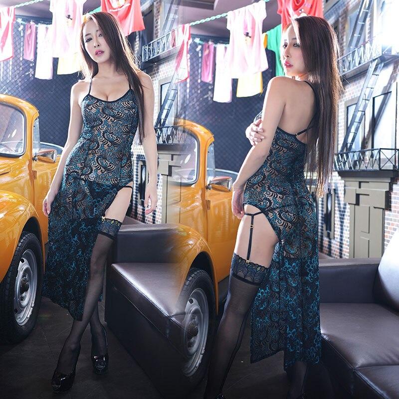 Кружевное сексуальное нижнее белье с павлиньими перьями, с вырезом-лодочкой, ночная рубашка, ночная рубашка, Пижама, женское нижнее белье